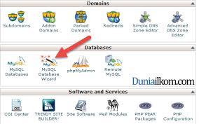 cara membuat database baru mysql cara membuat database mysql di cpanel web hosting duniailkom