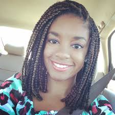 short colored box braids natural protective style hair