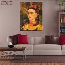 dpartisan self portrait with monkey 1940 poster by frida kahlo