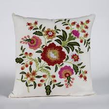 Throw Pillow Covers Online India Buy Fauna Embroidered Cushion Cover Best Online Prices