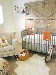 modern nursery ideas with wood barn and grey crib modern nursery
