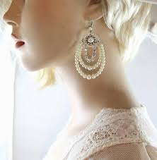 and pearl chandelier earrings bridal pearl chandelier earrings silver rhinestone wedding