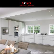 high gloss handless kitchen cabinets with large soft closing