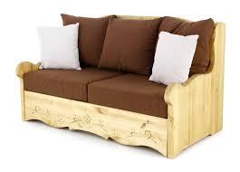 canap chalet canapé 2 places avec coffre pin massif sculpté liso dahu grenier alpin