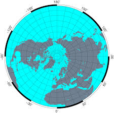 Azimuthal Map Northern Hemisphere Aerospace And Astronautics
