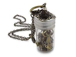 vintage key pendant necklace images Steampunk necklace antique watch parts gears vintage glass vial jpg