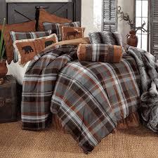 Plaid Bedding Set Glacier Bay Plaid Bear U0026 Moose Bed Set Queen Bedroom Ideas