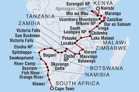 Zambia Africa Map by Kenya To Cape Town Namibia Tours Intrepid Travel Us