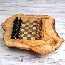 olive wood large chess set handcrafted wooden chess set board