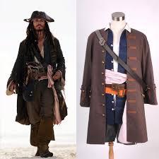 halloween pirates of the caribbean captain jack sparrow costume