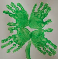 st patrick u0027s day four leaf clover hand print art u2013 in lieu of