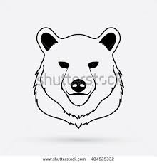 bear head designed using outline graphic stock vector 404525332