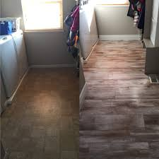 Tiles Or Laminate Flooring Flooring Before And After Reveal Wood Looking Tile 365 Days Of