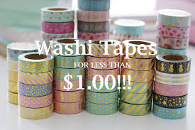 buy washi tapes for less than a buck youtube