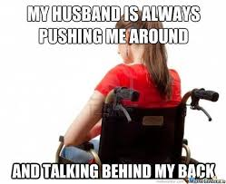 Merica Wheelchair Meme - handicapped wife problem humor hilarious and funny things