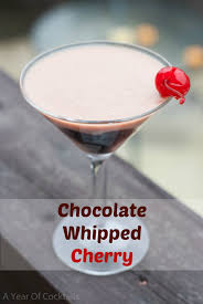 chocolate martini birthday chocolate whipped cherry a year of cocktails