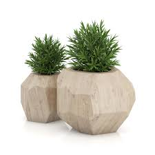mid century modern pots and planters square low planter h outdoor