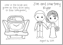 wedding coloring pages married glum