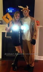 homemade halloween couple costume ideas cool homemade couple costume idea deer in headlights homemade