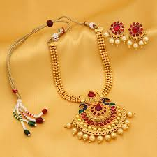 stone necklace sets images Buy necklace sets online temple jewellery gold plated neckace jpg