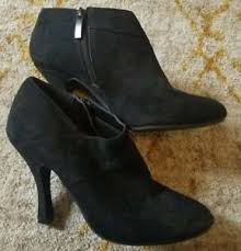 womens xappeal boots s xappeal black suede stiletto ankle boot size zip size 8 ebay