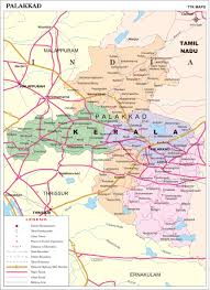 Map Of India Cities Palakkad District Map Kerala District Map With Important Places