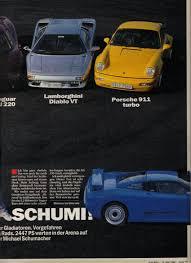 porsche ferrari lamborghini porsche 964 turbo vs bugatti eb110gt vs ferrari f40 vs jaguar
