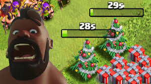 clash of clans removing 2 christmas trees same base 1 3
