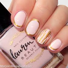 lauren b city of angels nail color with gold highlights girly