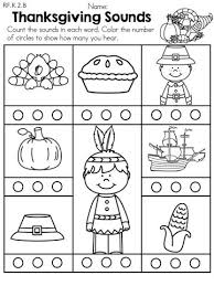 thanksgiving day worksheets for preschoolers the