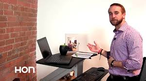 Hon Adjustable Height Desk by Directional Desktop Sit To Stand Two Minute Tutorial Youtube