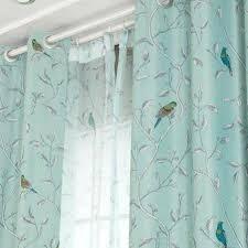 Teal Bird Curtains Teal Bird Curtains Teal Bird Curtains Chickadee Song Birds