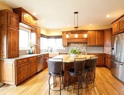 decorating modern kitchen design with quartz countertop and
