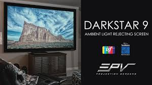 ambient light rejecting screen elite prime vision darkstar 9 isf certified ambient light rejecting