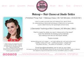 hair and makeup classes studio betties pinup boudoir photography makeup hair classes