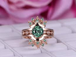 gemstone wedding rings images Alexandrite and diamond ring alexandrite gemstone ring bbbgem jpg