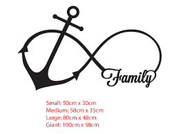 family anchor infinity symbol wall sticker removable