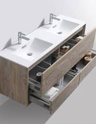 Bathroom Vanity Double Sinks De Lusso 60