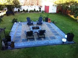 Backyard Pit Backyard Pea Gravel Fire Pit Design Ideas Home Fireplaces