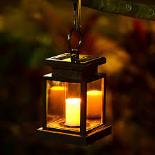 Solar Umbrella Lights by Led Solar Powered Wall Lamp Umbrella Lantern Candle Lights Outdoor