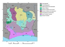 Ivory Coast Map Ecoregions And Topography Of Côte D U0027ivoire West Africa