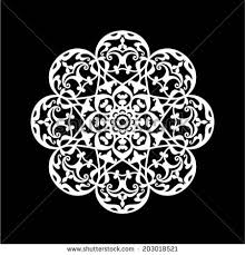 abstract ornament stencil pattern cut stock vector 203018521