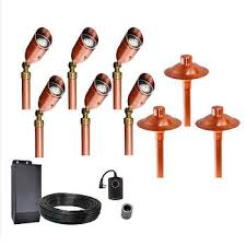 hton bay low voltage bronze outdoor integrated led light kit electric led yard lights low voltage 28 images set of low