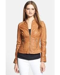 light brown leather jacket womens women s tan leather biker jacket white skinny jeans tan leather