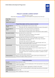 lessons learned report template 8 lesson learned template cook resume