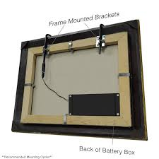 picture frame light battery operated cocoweb battery operated 12 tru slim 1 light led frame mounted
