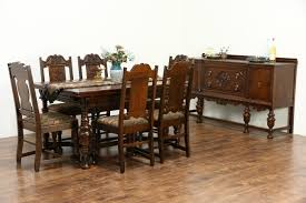 Dining Room Buffets And Servers by Tudor Design 1925 Antique Carved Oak Sideboard Server Or Buffet