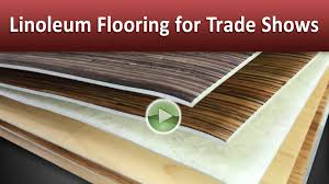 Linoleum Floor Installation Linoleum Flooring For Trade Shows Youtube
