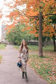 gal meets glam fall florals in quebec city tory burch dress