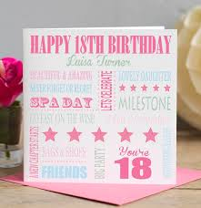 18th birthday milestone card for her by lisa marie designs